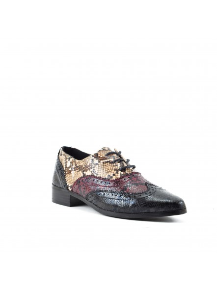 Zapato Oxford con estampado de serpiente